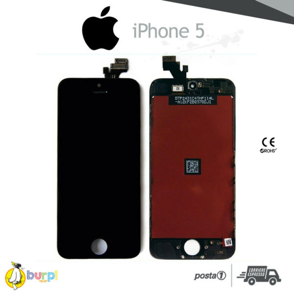 DISPLAY LCD TOUCH SCREEN PER APPLE IPHONE 5 VETRO NERO SCHERMO MONITOR AAA 233375146190