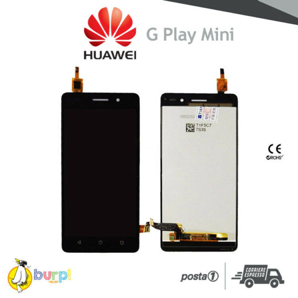 DISPLAY LCD TOUCH SCREEN VETRO HUAWEI G PLAY MINI SCHERMO NERO BLACK CHC 233249151450