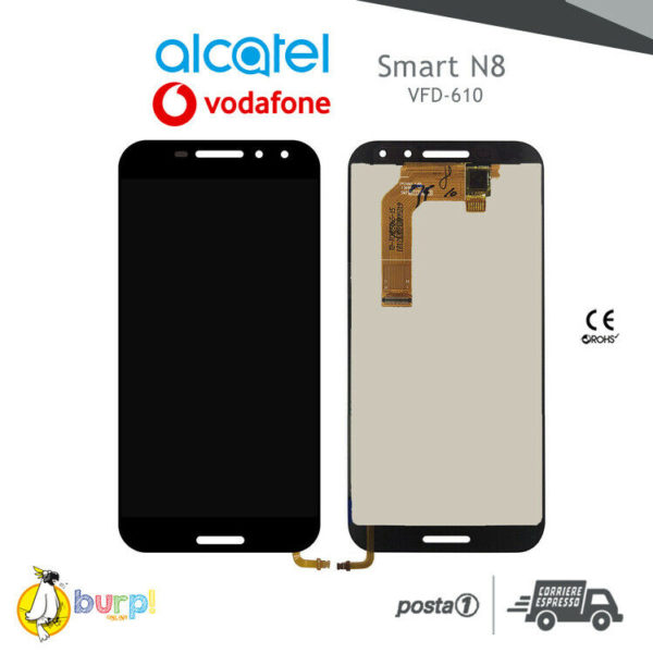 TOUCH SCREEN DISPLAY VETRO LCD ALCATEL VODAFONE SMART N8 VFD 610 NERO BLACK 233249223990
