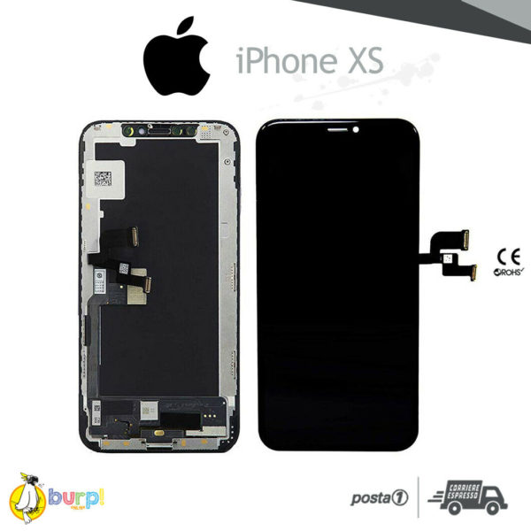 DISPLAY LCD FRAME TOUCH SCREEN APPLE IPHONE XS VETRO NERO SCHERMO HARD OLED 233375135541