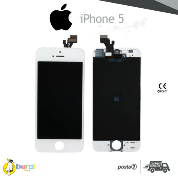 DISPLAY LCD TOUCH SCREEN PER APPLE IPHONE 5 VETRO BIANCO SCHERMO MONITOR AAA 233375148931