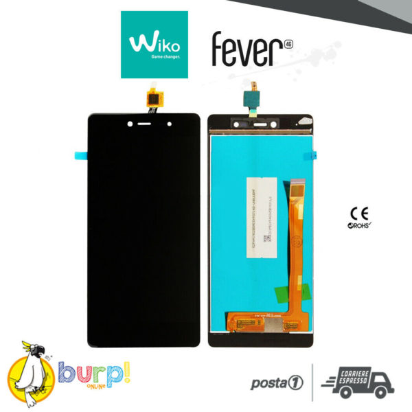 LCD TOUCH SCREEN DISPLAY PER WIKO FEVER 4G NERO BLACK VETRO SCHERMO ASSEMBLATO 232951111541