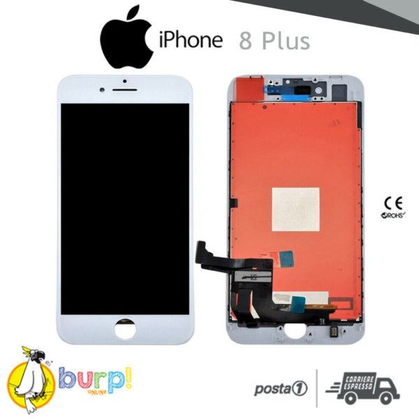TOUCH SCREEN DISPLAY APPLE IPHONE 8 PLUS VETRO LCD RETINA SCHERMO BIANCO WHITE 233188965761