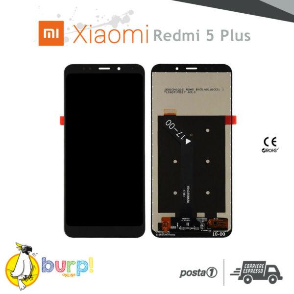 DISPLAY LCD TOUCH SCREEN PER XIAOMI REDMI 5 PLUS NERO VETRO RICAMBIO AAA 232952468602