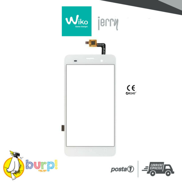 TOUCH SCREEN VETRO DISPLAY VETRINO GLASS PER WIKO JERRY WHITE BIANCO DIGITIZER 232952558132