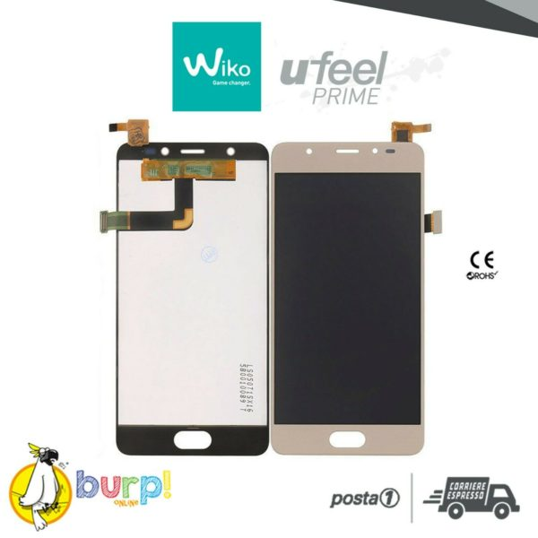 DISPLAY LCD TOUCH SCREEN VETRO ASSEMBLATO WIKO UFEEL U FEEL PRIME GOLD ORO 233296407233