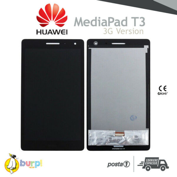 DISPLAY LCD TOUCH SCREEN VETRO HUAWEI MEDIAPAD T3 70 3G VERSION SCHERMO NERO 233249164493