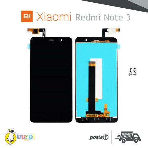DISPLAY LCD TOUCH SCREEN XIAOMI REDMI NOTE 3 3 PRO NERO BLACK VETRO SCHERMO 233247479173