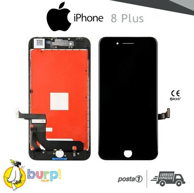 TOUCH SCREEN DISPLAY APPLE IPHONE 8 PLUS VETRO LCD RETINA SCHERMO NERO BLACK 233188967703