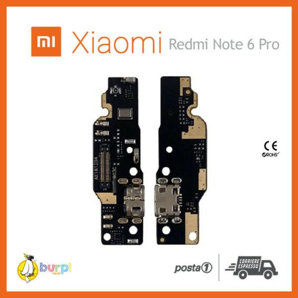 CONNETTORE RICARICA MICRO USB MICROFONO DOCK XIAOMI REDMI NOTE 6 PRO FLEX FLAT 233332346644