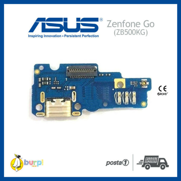 CONNETTORE RICARICA USB MICROFONO DOCK ASUS ZENFONE GO ZB500KG X00BD FLAT 233333217644
