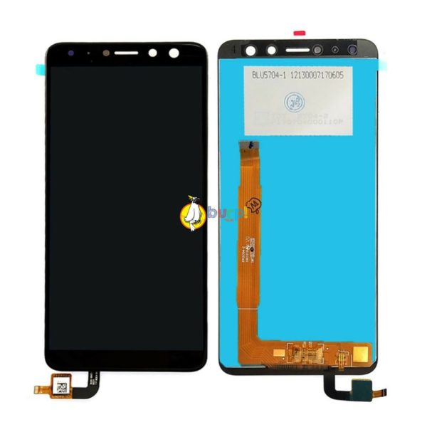 TOUCH SCREEN VETRO LCD DISPLAY ASSEMBLATI PER WIKO VIEW XL NERO 599 AAA 232990767394