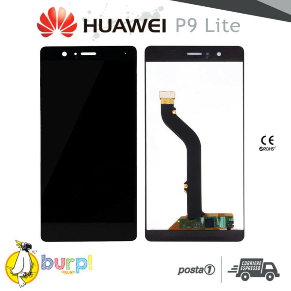 LCD DISPLAY HUAWEI P9 LITE VNS L31 L23 TOUCH SCREEN SCHERMO MONITOR NERO BLACK 232951186295