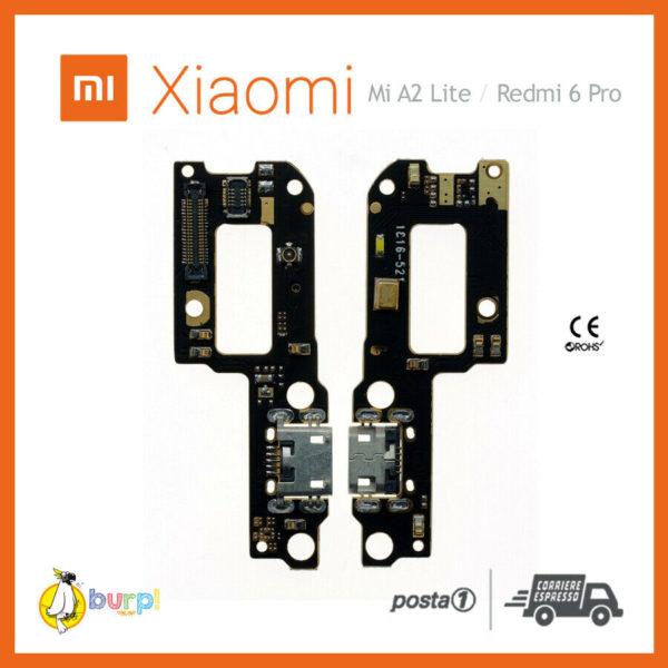 CONNETTORE RICARICA USB MICROFONO DOCK XIAOMI REDMI 6 PRO REDMI A2 LITE FLAT 233332331746