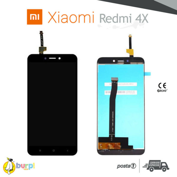 DISPLAY LCD TOUCH SCREEN ASSEMBLATO PER XIAOMI REDMI 4X NERO VETRO SCHERMO 233375124146