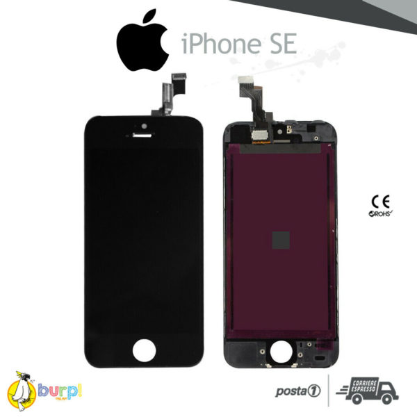 DISPLAY LCD TOUCH SCREEN PER APPLE IPHONE SE VETRO NERO SCHERMO MONITOR AAA 233375153016