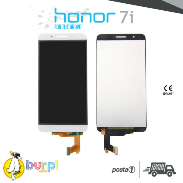 DISPLAY LCD TOUCH SCREEN VETRO HUAWEI HONOR 7i BIANCO SHOT X ATH UL01 AAA 232990726456