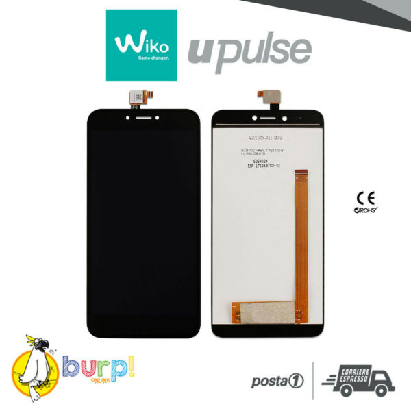 DISPLAY LCD TOUCH SCREEN WIKO U PULSE 55 ASSEMBLATO NERO BLACK UPULSE AAA 232951133736
