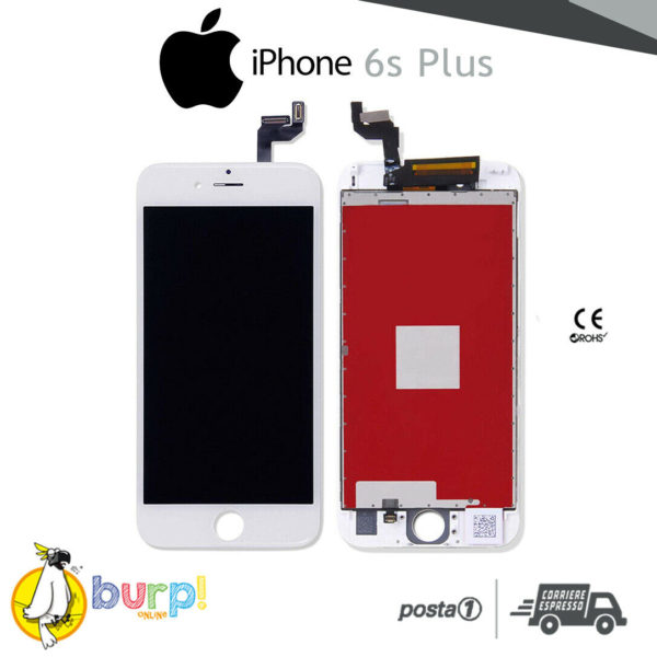 TOUCH SCREEN DISPLAY APPLE IPHONE 6S PLUS VETRO LCD RETINA SCHERMO BIANCO 233188953366
