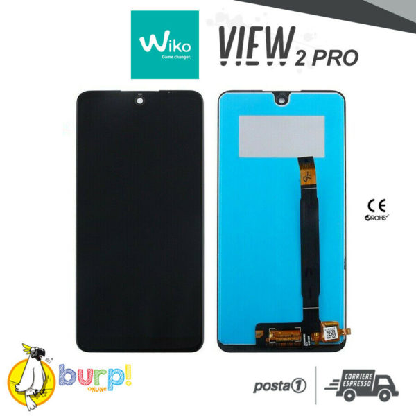 TOUCH SCREEN VETRO LCD DISPLAY ASSEMBLATI PER WIKO VIEW 2 PRO NERO BLACK AAA 233275850886