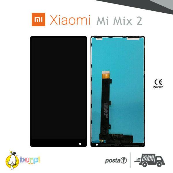 DISPLAY LCD TOUCH SCREEN ASSEMBLATO XIAOMI MI MIX 2 2S NERO VETRO SCHERMO 233247490247