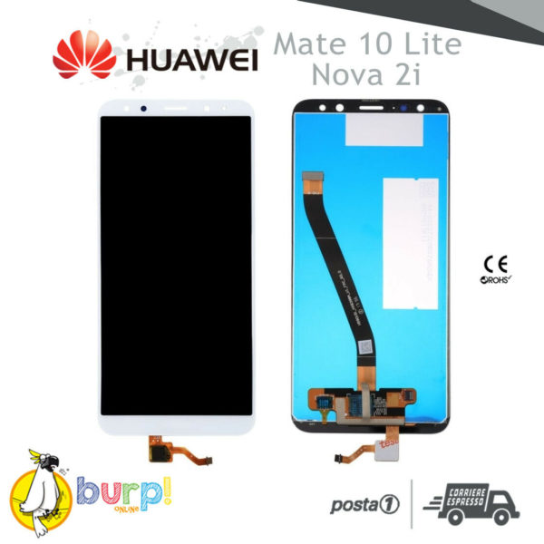 DISPLAY LCD TOUCH SCREEN HUAWEI MATE 10 LITE BIANCO RNE L00 NOVA 2i AAA 232952427677