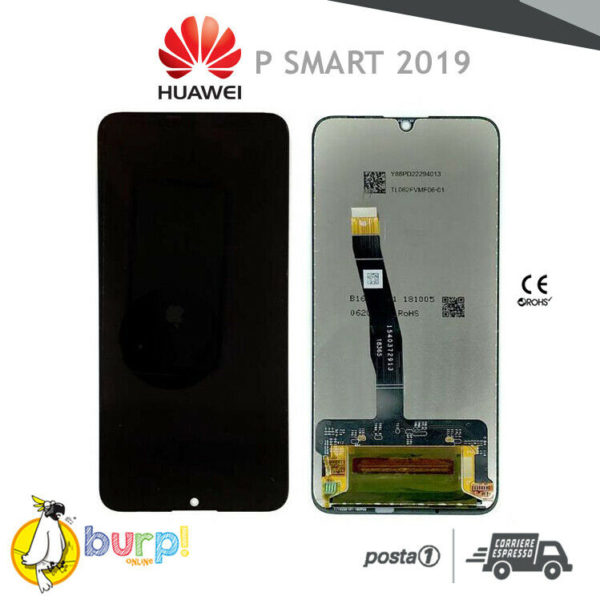 DISPLAY LCD TOUCH SCREEN VETRO PER HUAWEI P SMART 2019 NERO BLACK SCHERMO AAA 233241620747