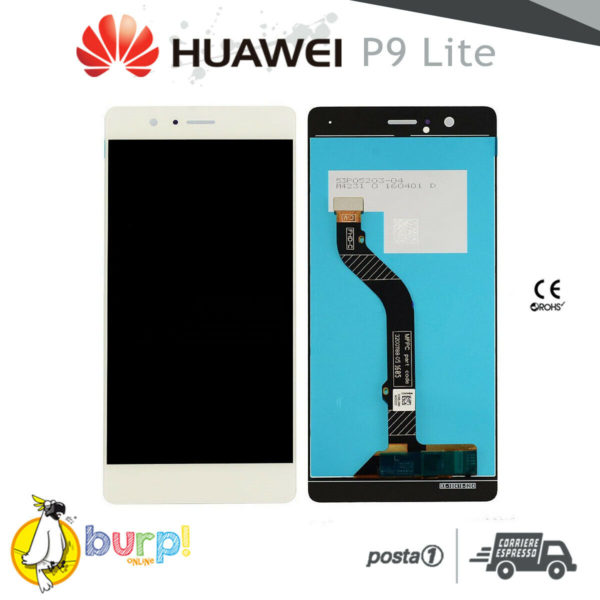 DISPLAY LCD TOUCH SCREEN VETRO PER HUAWEI P9 LITE BIANCO VNS L21 22 23 31 53 232951193727