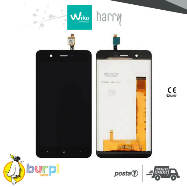 LCD TOUCH SCREEN DISPLAY ASSEMBLATO PER WIKO HARRY BLACK NERO TOP QUALITY AAA 232990767917