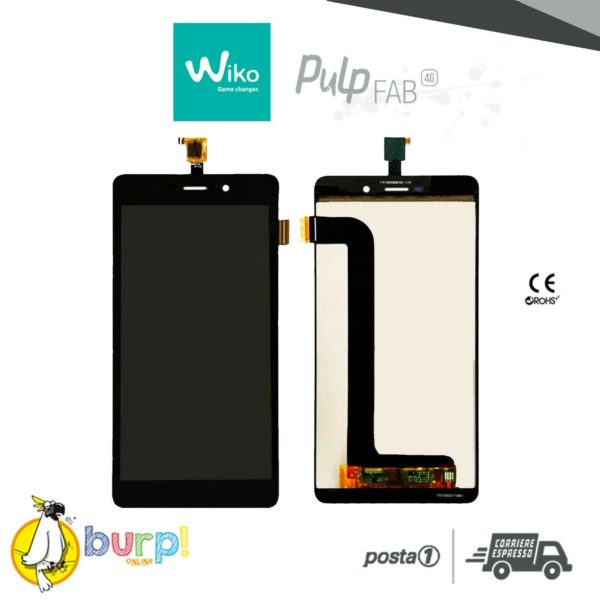LCD TOUCH SCREEN DISPLAY ASSEMBLATO WIKO PULP FAB 4G BLACK NERO 55 AAA 232990772657