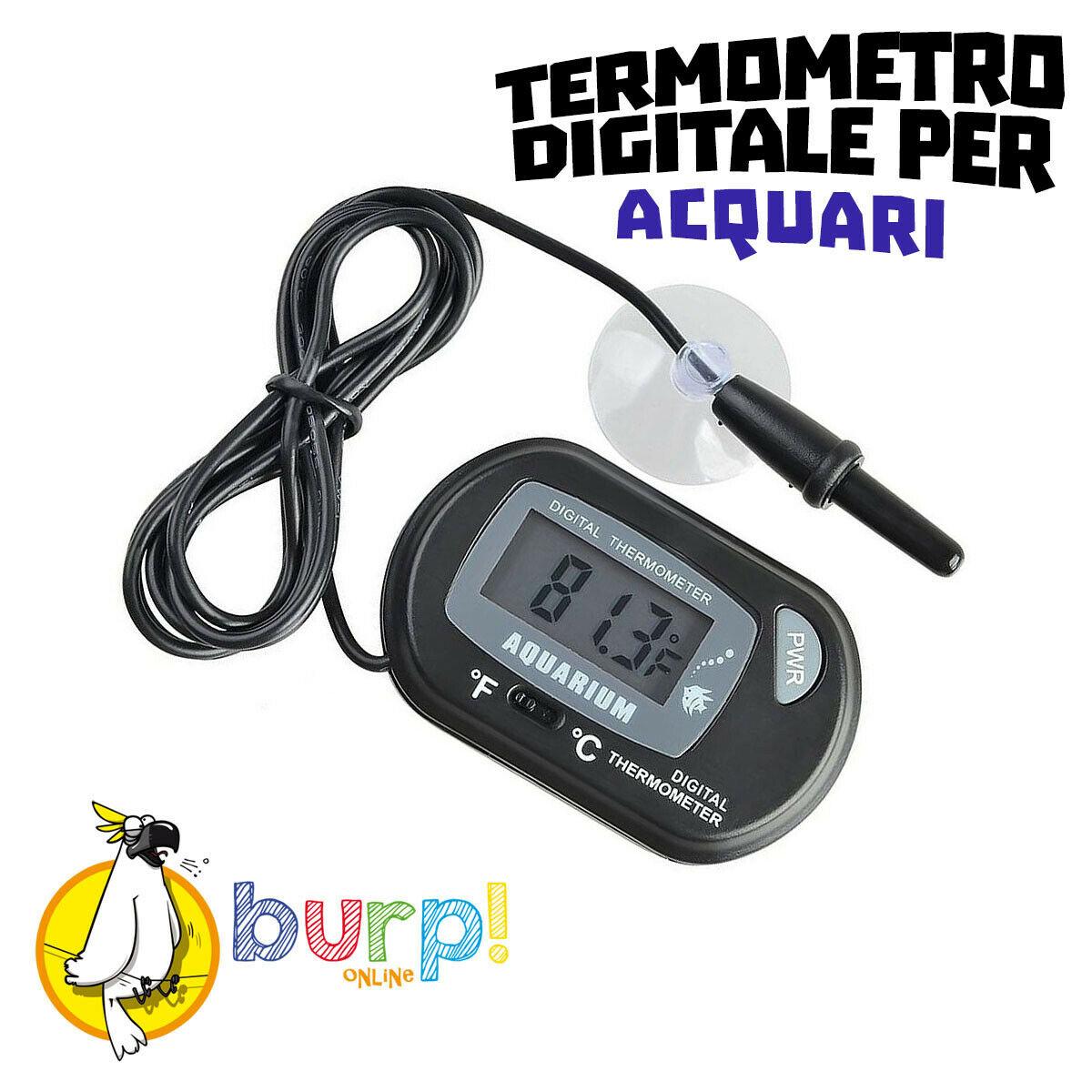 Termometro per acquario digitale con sonda schermo lcd for Termometro per acquario tartarughe