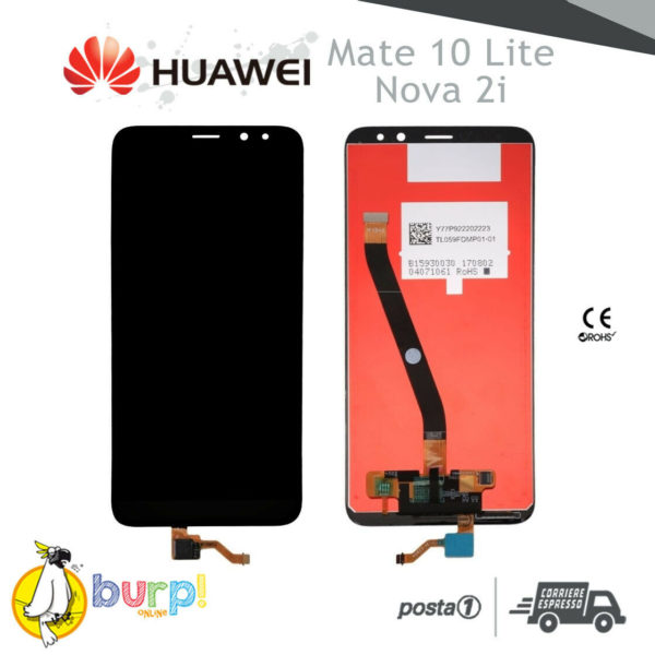 DISPLAY LCD TOUCH SCREEN VETRO HUAWEI MATE 10 LITE NERO RNE L00 NOVA 2i AAA 232952430538