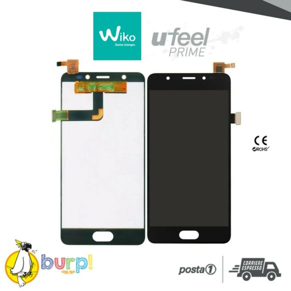 TOUCH SCREEN VETRO LCD DISPLAY ASSEMBLATI PER WIKO U FEEL UFEEL PRIME NERO 5 232990813458