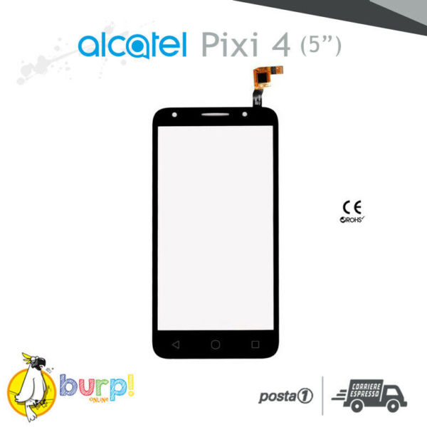 TOUCH SCREEN VETRO SCHERMO ALCATEL PIXI 4 5045 5045X 3G NERO 50 NERO BLACK 232926303248