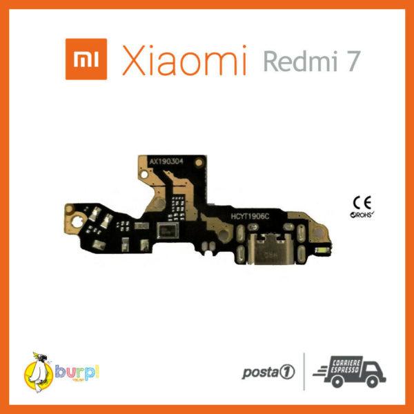 CONNETTORE RICARICA MICRO USB MICROFONO DOCK XIAOMI REDMI 7 FLAT FLEX RICAMBIO 233332333599