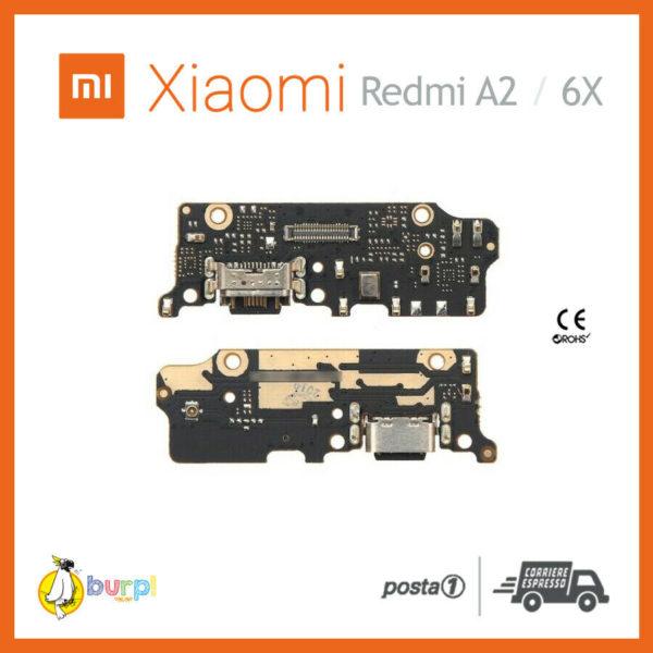 CONNETTORE RICARICA USB MICROFONO DOCK XIAOMI REDMI 6X REDMI A2 FLAT FLEX 233332330549