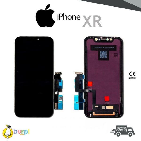 DISPLAY LCD TOUCH SCREEN APPLE IPHONE XR VETRO NERO SCHERMO A2105 A2108 OLED 233350980669