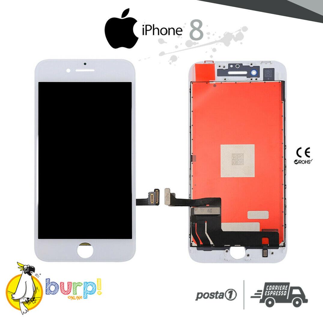 TOUCH SCREEN DISPLAY APPLE IPHONE 8 8G VETRO LCD RETINA SCHERMO BIANCO WHITE 233188962279